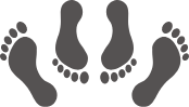 footprints icon